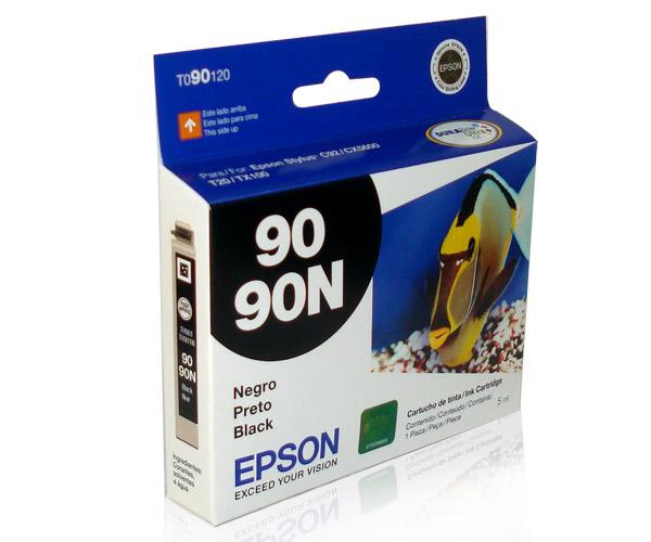 Cartucho de Tinta Epson Preto 90N T090120 para Stylus C92 CX5600 CX7300 CX8300