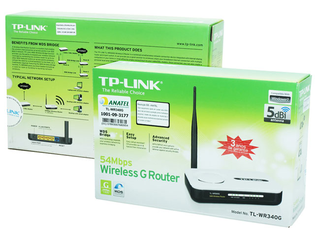 Roteador Wireless 54 Mbps - TP-Link TL-WR340G