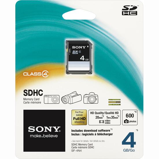 Cartão de Memória SDhc 4GB Class 4 SF-4N4/QJ Sony