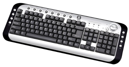 Teclado Multimídia PS2 KB2202  - C3 Tech