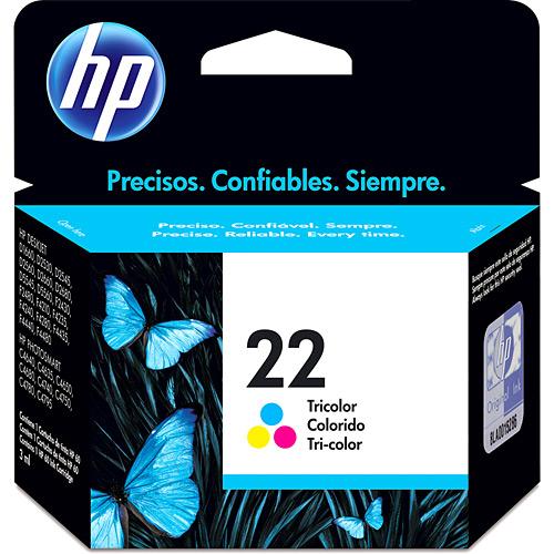 Cartucho de Tinta HP 22 Colorido Original - HP