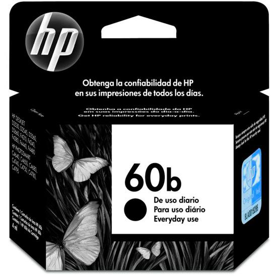 Cartucho de Tinta HP 60b Preto Original - HP