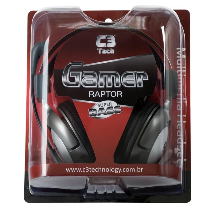 Fone de Ouvido Gamer Raptor Super Bass - C3 Tech