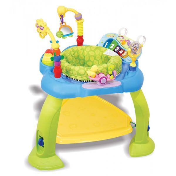 Super Cadeira do Bebê Azul e Verde - Buba Toys