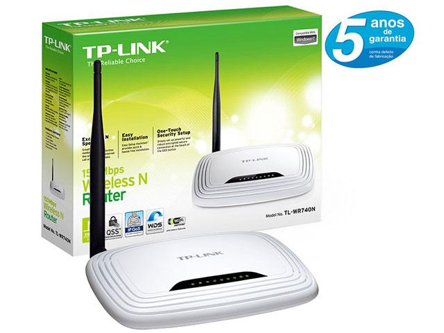 Roteador Wireless N 150Mpbs Antena 5dBi TL-WR740N - TP-LINK
