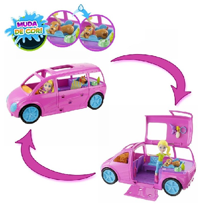 Polly Pocket Pet Car - Mattel