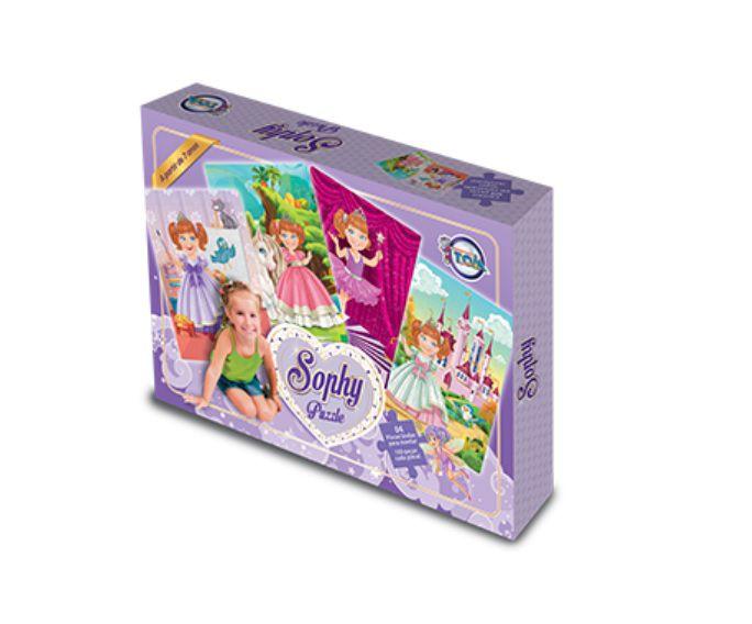 4 Quebra-cabeças Sophy 400 Peças - Toia Brinquedos