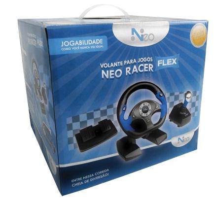 Volante para Jogos Neo Racer Flex PC/PS2/PS3