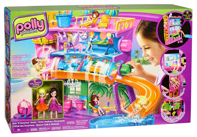 Polly Pocket Resort Cola e Descola 3 Andares - Mattel