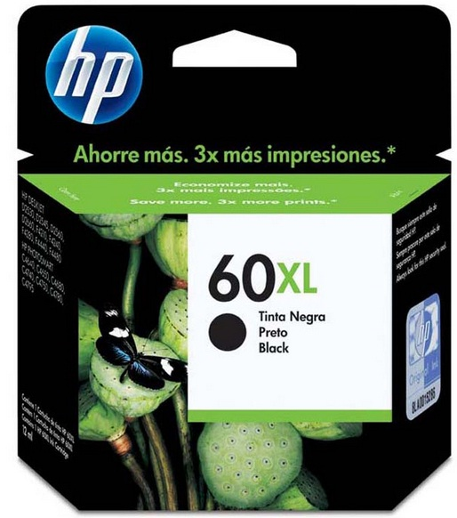 Cartucho de Tinta Preto HP 60XL 13,5 ml - HP