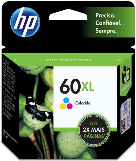 Cartucho de Tinta HP Original 60XL Colorido – HP
