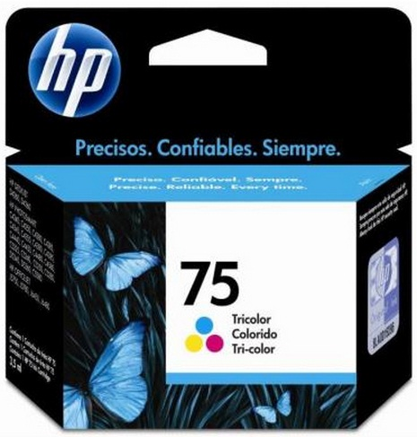 Cartucho de Tinta HP Original 75 Colorido – HP