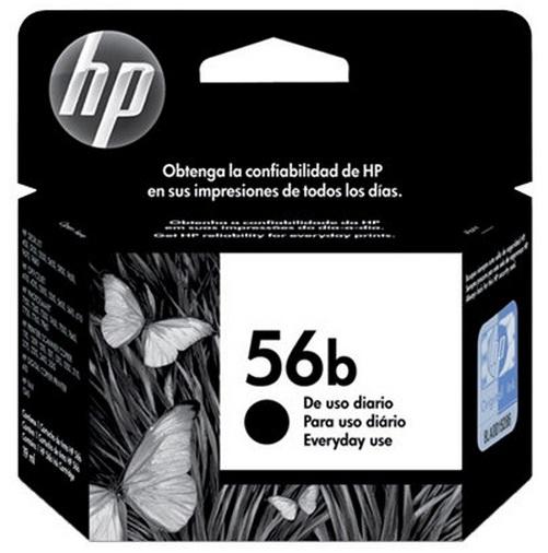Cartucho de Tinta Preto HP 56b - HP
