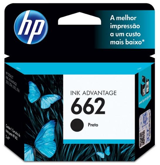 Cartucho de Tinta HP Original 662 Preto – HP