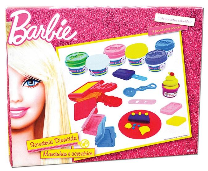 Massinha Sorveteria Divertida Barbie - Barão Toys