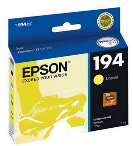 Cartucho De Tinta  Epson 194 Amarelo Original - Epson