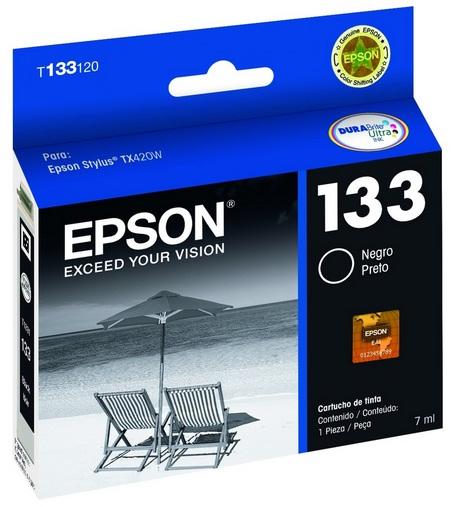 Cartucho de Tinta Epson 133 Preto Original - Epson
