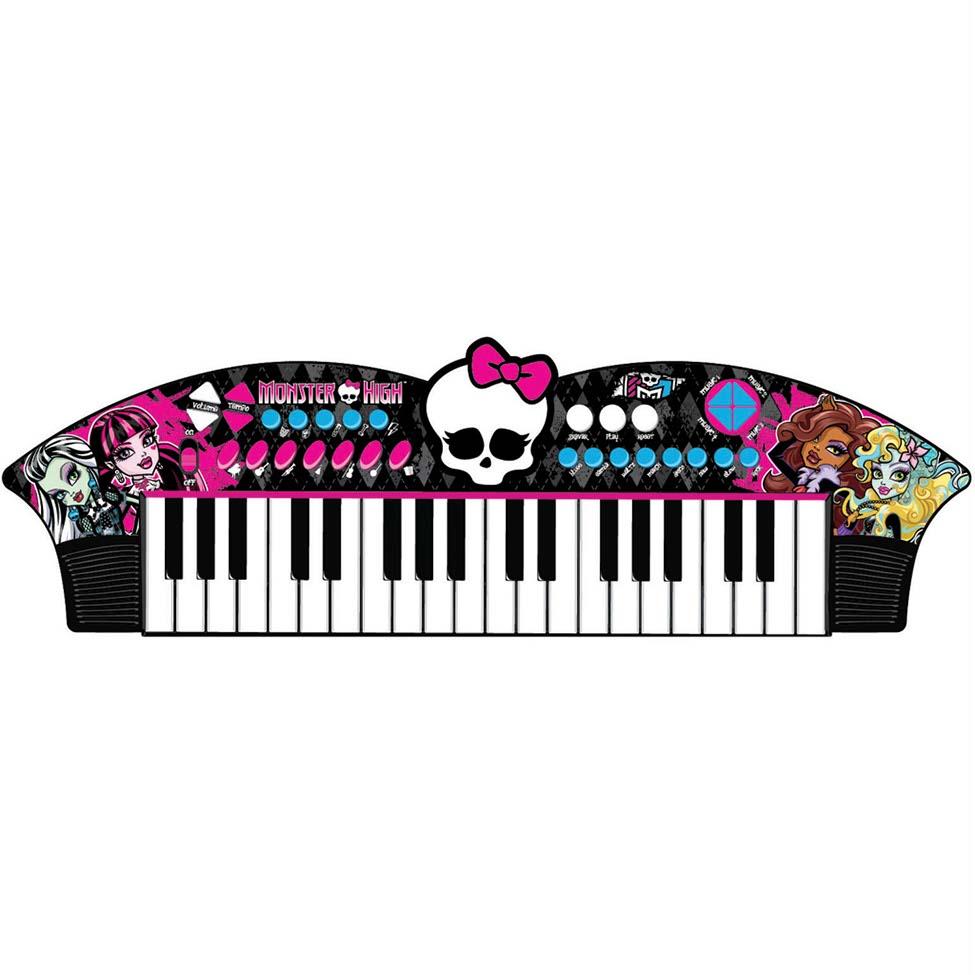 Teclado Musical Skull Bat Monster High – Fun Brinquedos