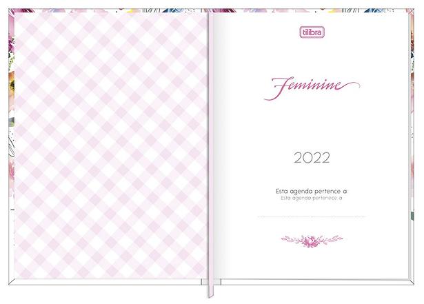 Agenda Costurada Diária Feminine 2022 - Tilibra