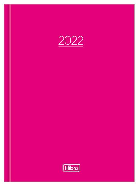Agenda Costurada Diária Pepper Rosa 2022 - Tilibra