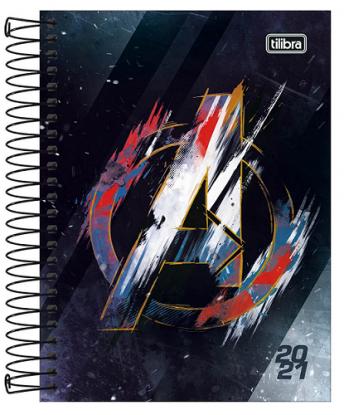 Agenda Espiral Diária Avengers 2021 - Tilibra
