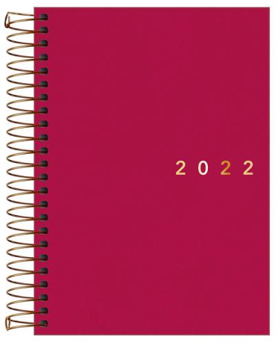 Agenda Espiral Diária Executiva Napoli Rosa 2022 - Tilibra