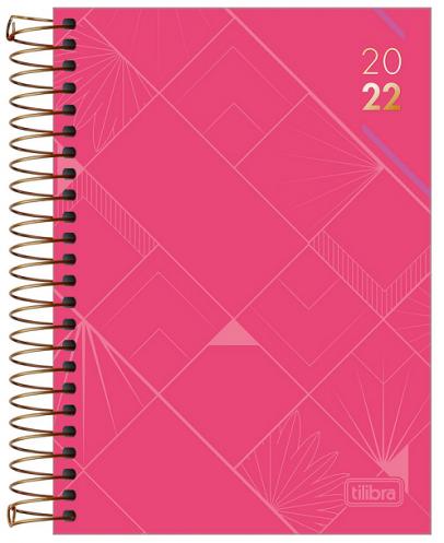 Agenda Espiral Diária Executiva Spot Rosa M5 2022 - Tilibra