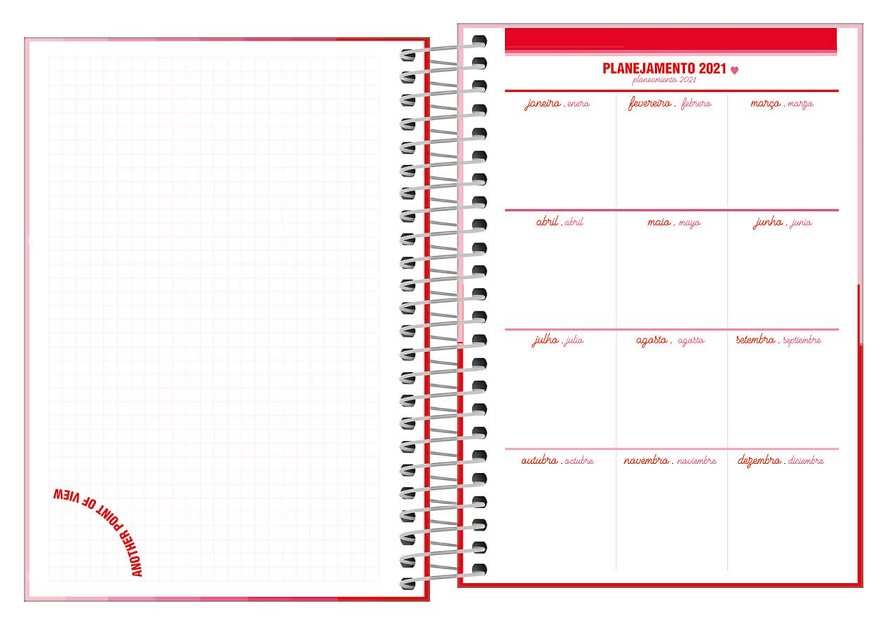 Agenda Espiral Diária Love Pink 2021 - Tilibra