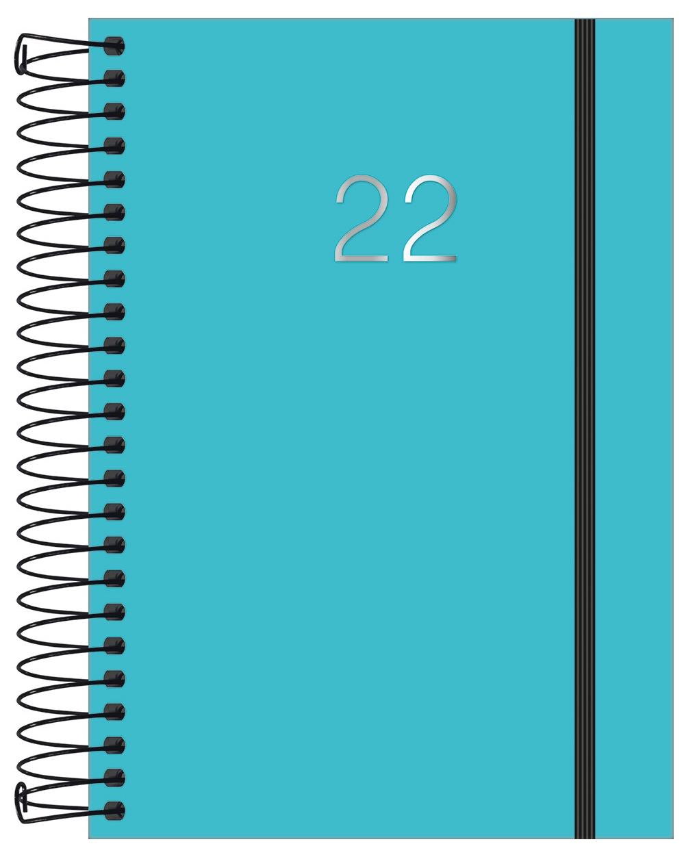 Agenda Espiral Diária Neon 2022 - Tilibra