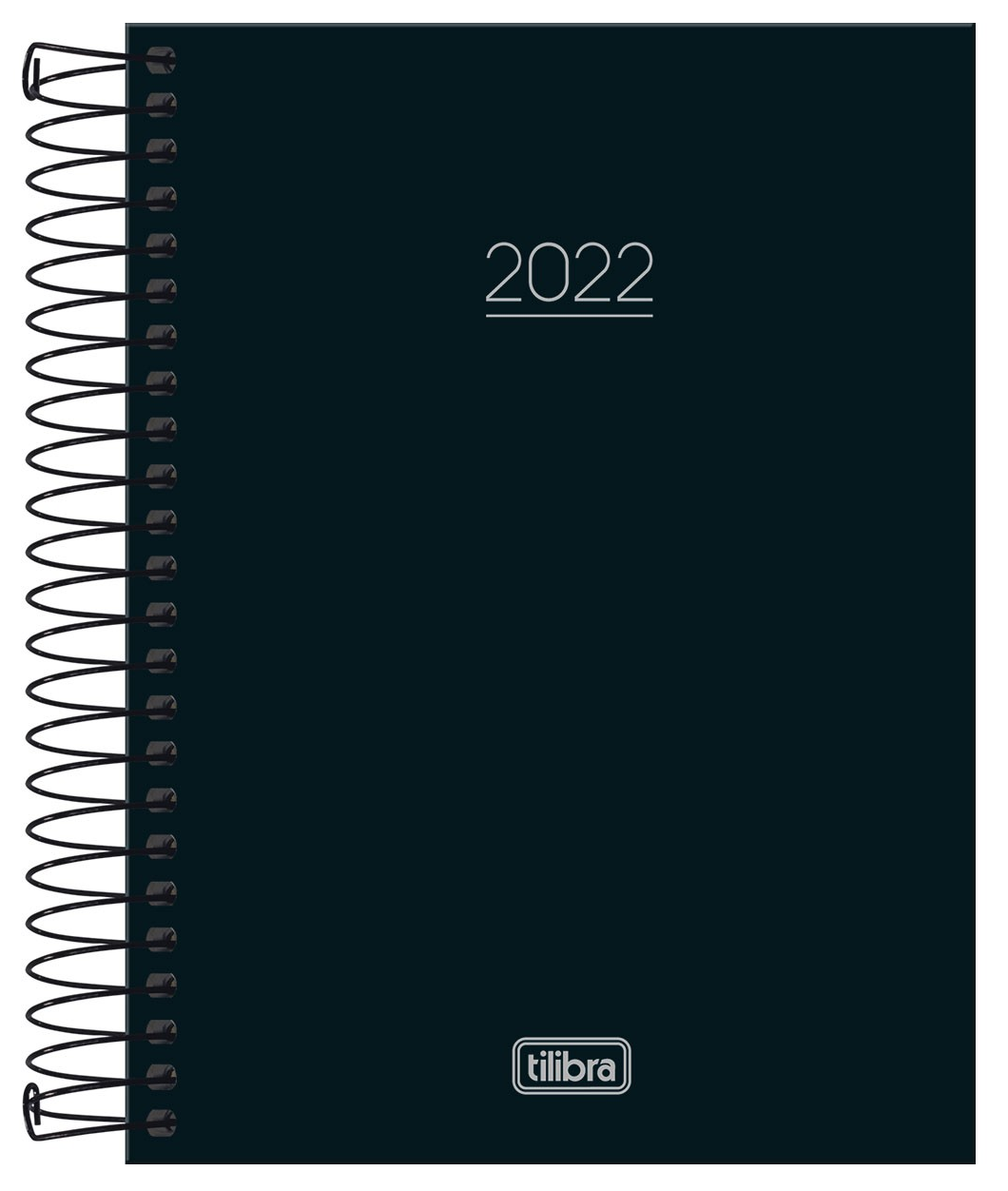 Agenda Espiral Diária Pepper Preto M4 2022 - Tilibra