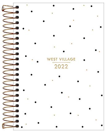 Agenda Espiral Diária West Village 2022 - Tilibra