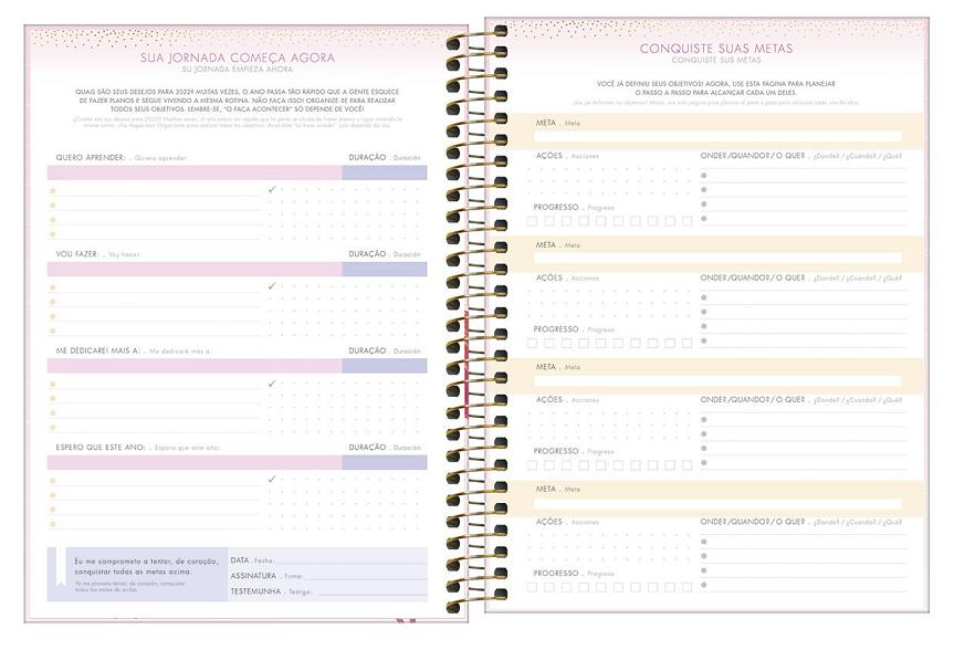 Agenda Espiral Planner Aloha M7 2022 - Tilibra