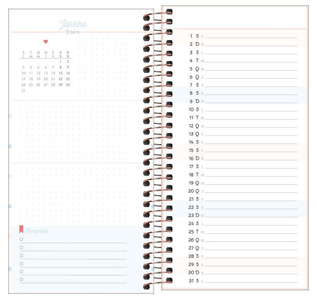 Agenda Espiral Planner Slim Soho 2022 - Tilibra
