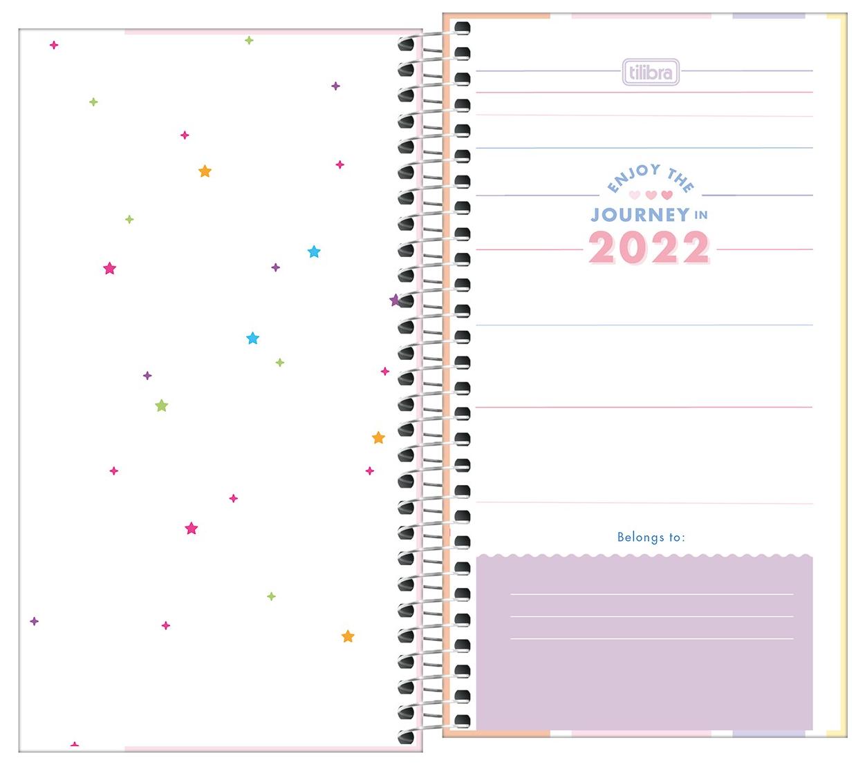 Agenda Espiral Semanal Happy 2022 - Tilibra