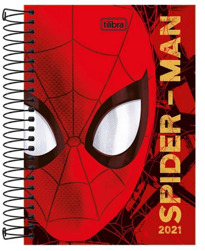 Agenda Espiral Spider Man 2021 - Tilibra
