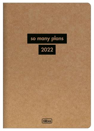 Agenda Grampeada Planner KraftWork 2022 - Tilibra