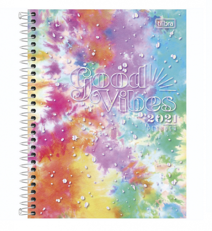 Agenda Planner 2021 Good Vibes Espiral - Tilibra