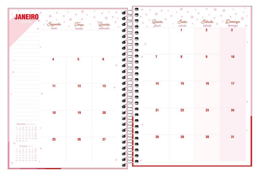 Agenda Planner Espiral Love Pink 2021- Tilibra