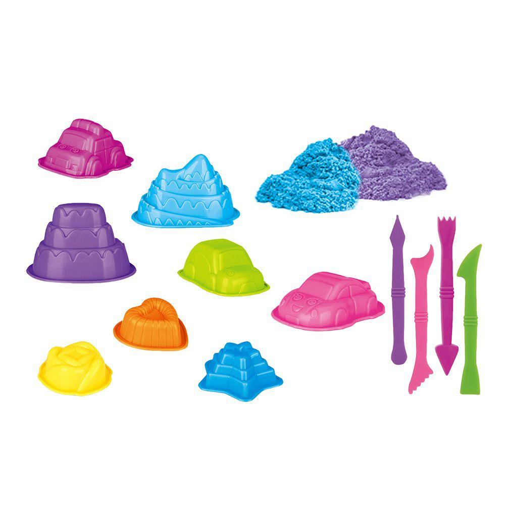 Areia Divertida Carros - Dm Toys