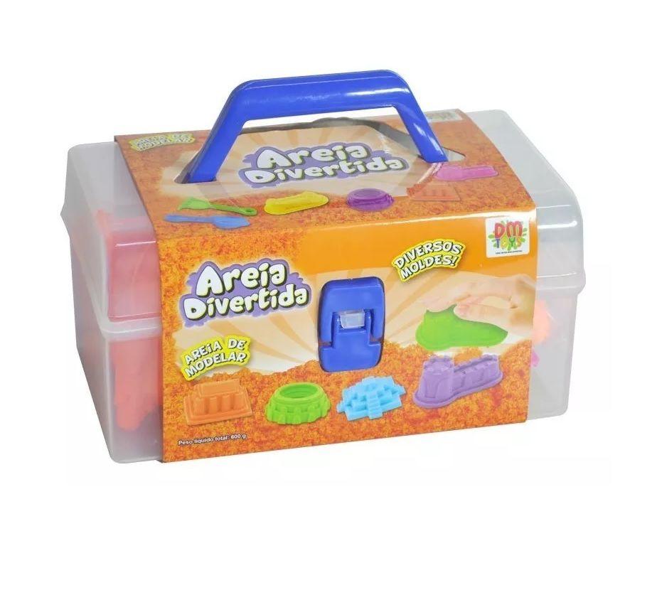 Areia Divertida Maleta com Acessórios Sortidos - Dm Toys