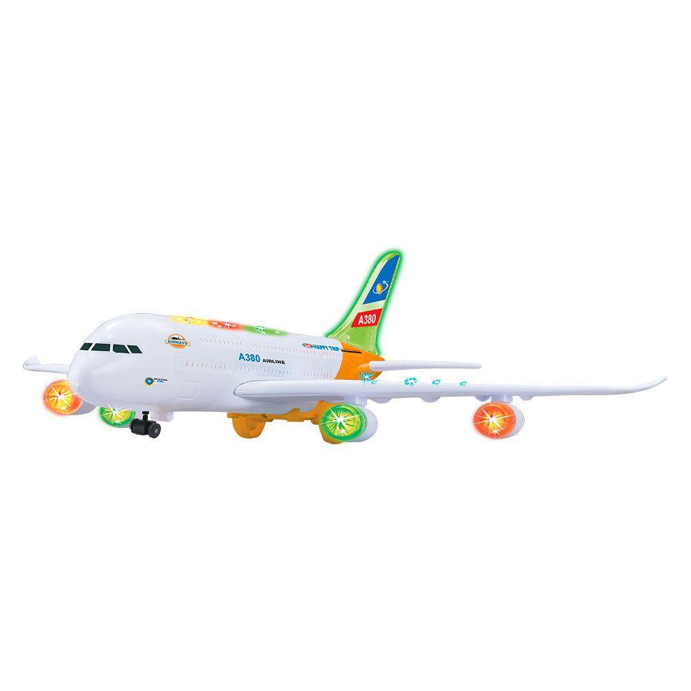 Avião Super Air Bate e Volta com Luz e Som - Dm Toys