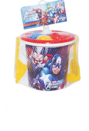 Balde de Praia Avengers Hulk 7 Peças - Rosita