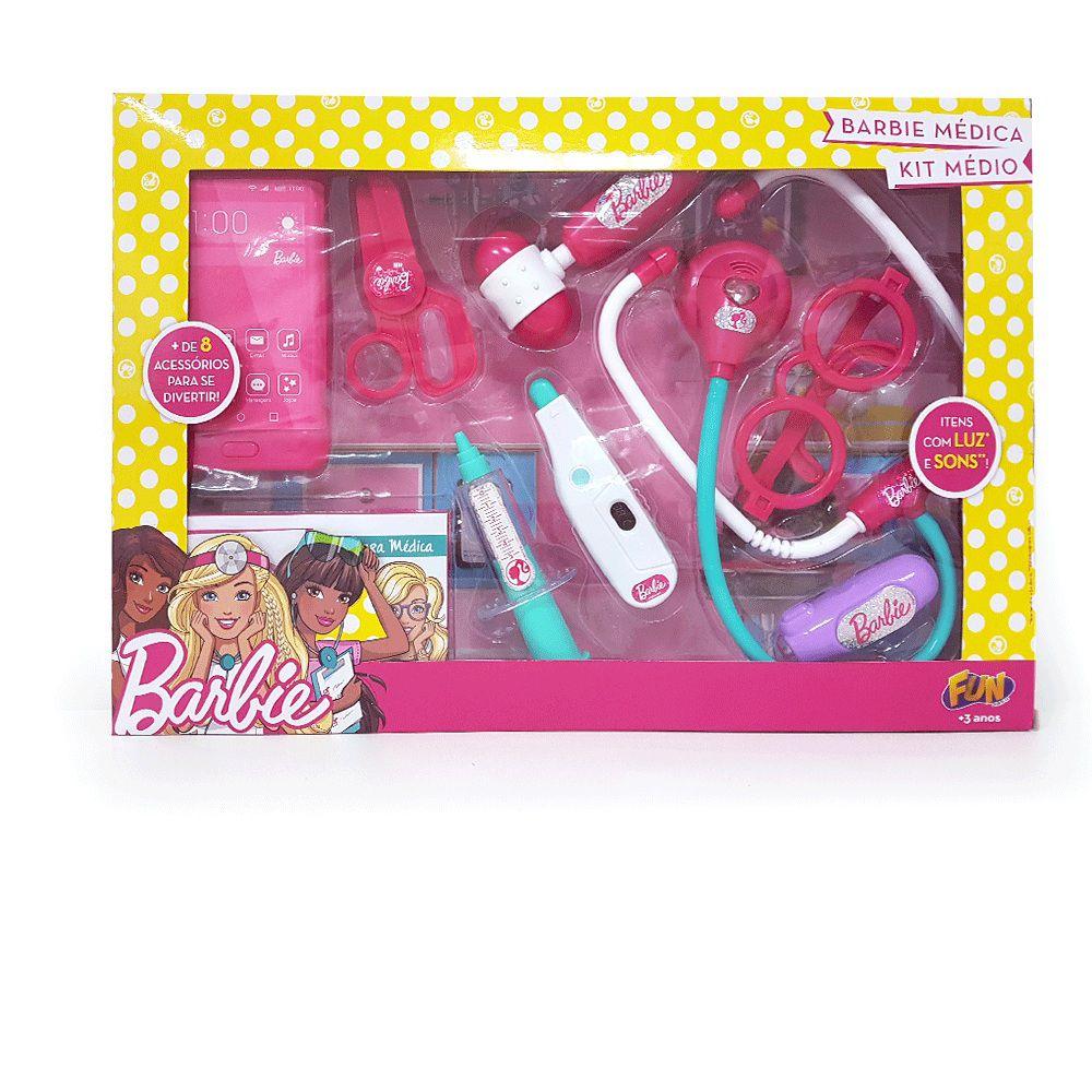 Barbie Médica Kit Médio - FUN