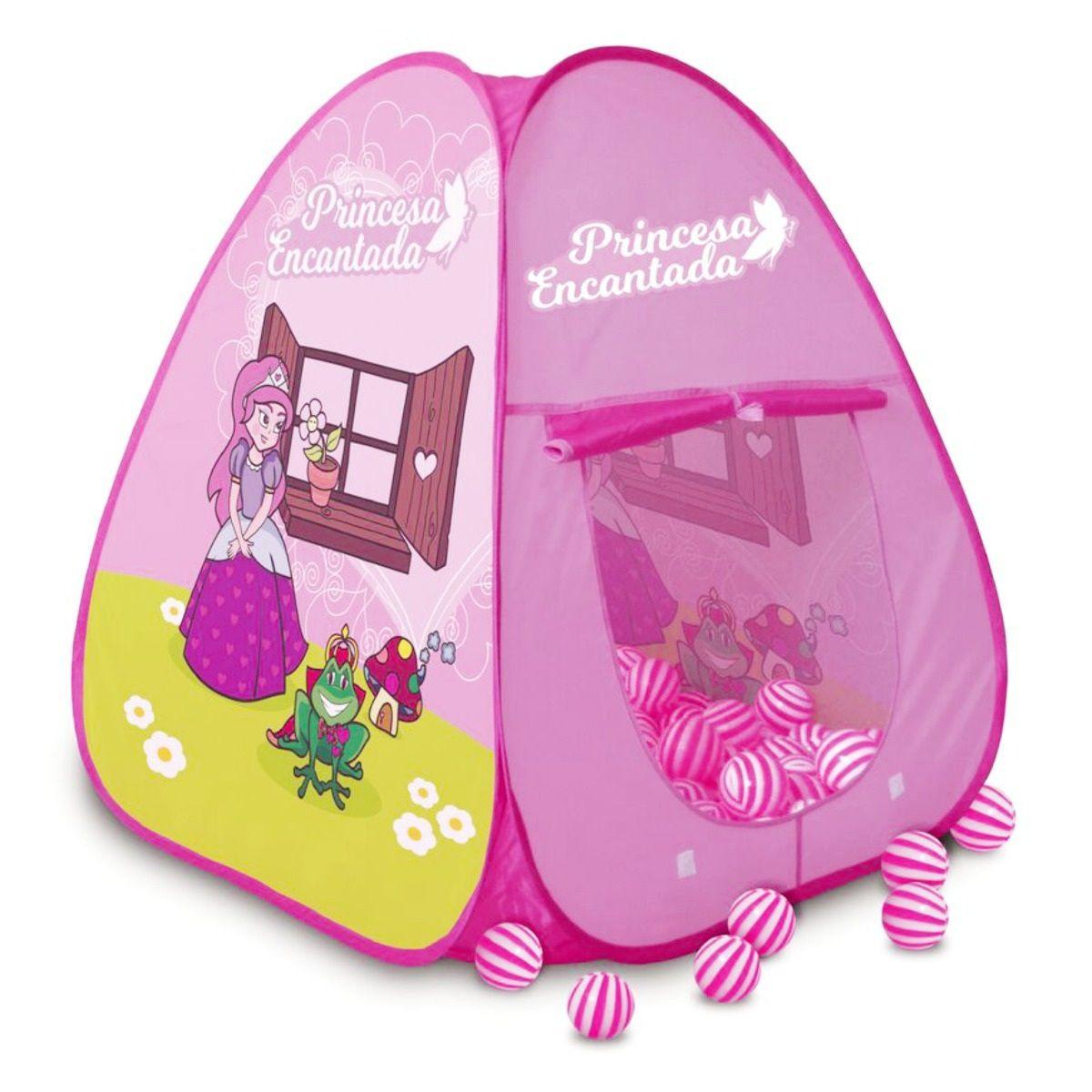 Barraca Infantil Princesa Encantada com 100 Bolinhas Multicoloridas- Pica Pau