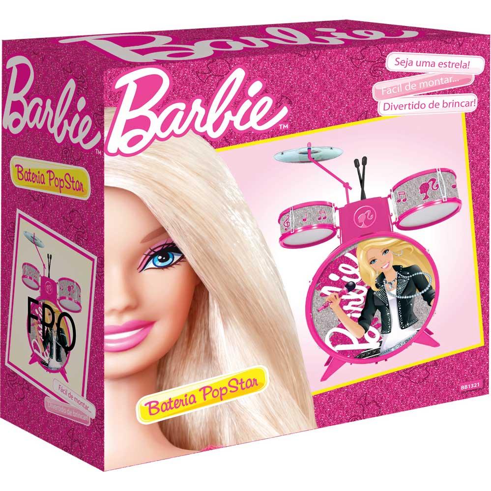 Bateria Infantil Barbie Pop Star - Barão Toys