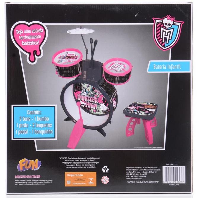 Bateria Infantil Monster High - Fun