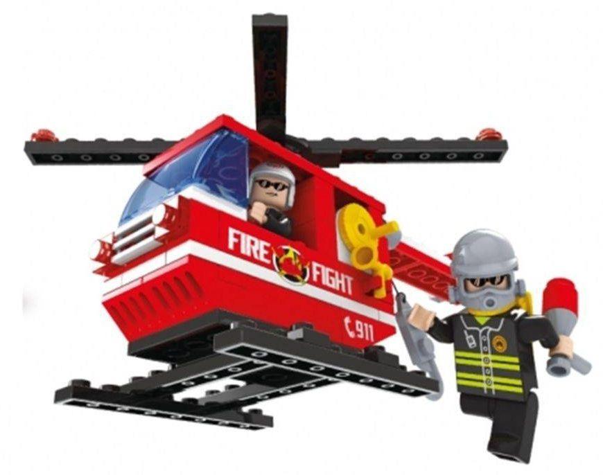 Blocos Bombeiros Helicóptero 105 Peças - Xalingo