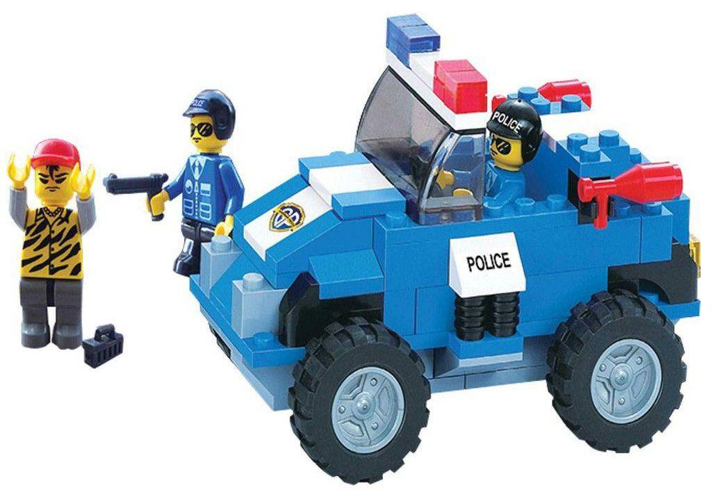 Blocos Carro Polícia Defensores da Ordem 119 Peças - Xalingo