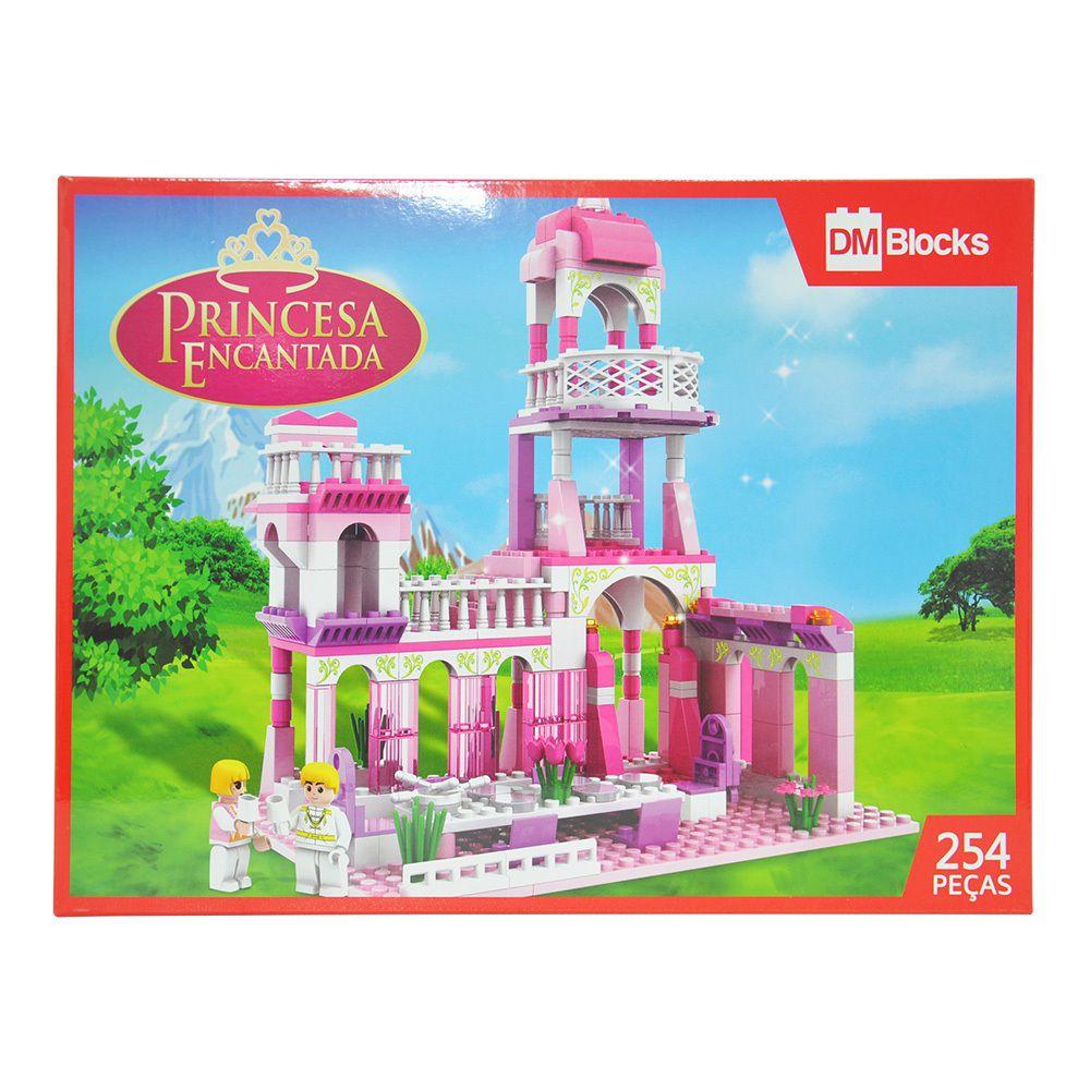 Blocos de Montar Dm Blocks Princesa Encantada 254 Peças - Dm Toys
