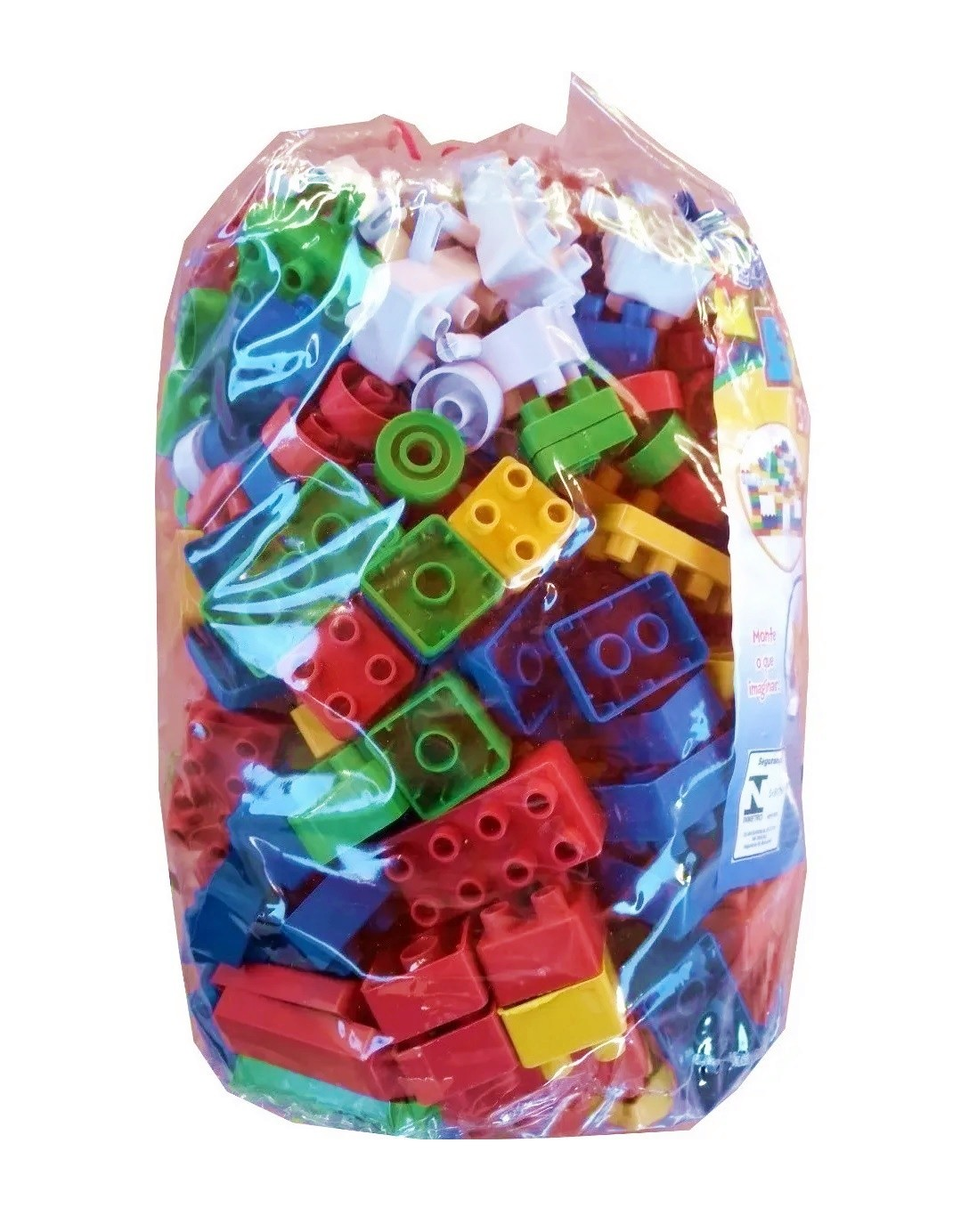Blocos de Montar Super Blocks 334 Peças Médias Sortidos - World Blocks Kids